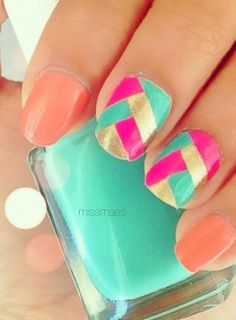 Fancy Bright Nails.