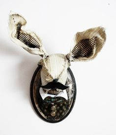 Rabbit Gentleman faux taxidermy by SwankyEgg on Etsy, $150.00