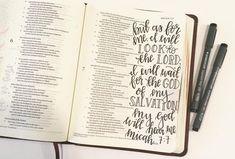 Micah 7:7 Micah 7 7, Bible Journal, Christian Life, Bible Verses, Journaling, Lord, Instagram Posts, Beautiful, Christian Living