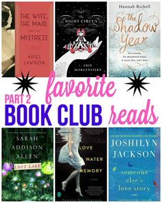 Looking for a few books for your book club to read? These have all been favorites of mine!! Check out Part 2 in my Favorite Book Club Reads!