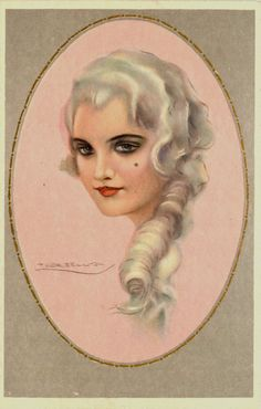 T Corbella Artist Signed Glamour Oval Beautiful Woman 3 Antique Vintage Postcard