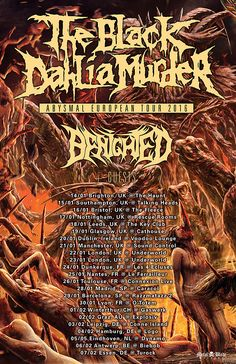 HARD N' HEAVY NEWS: THE BLACK DAHLIA MURDER - ANNOUNCES NEW EUROPEAN TOUR WITH BENIGHTED!