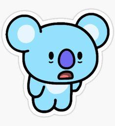 Cute Easy Drawings, Bts Drawings, Printable Stickers, Cute Stickers, Cool Vans Wallpapers, Iphone Wallpaper Yellow, Fairy Tail Art, Jimin Fanart, Kawaii Illustration
