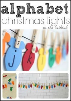 Alphabet Christmas Lights from @Jenae {I Can Teach My Child!} - Match capital and lowercase letters