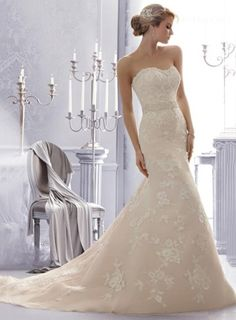 http://www.ihomecoming.com/product/10995257.html ihomecoming.com SUPPLIES Sweetheart Mermaid/Trumpet Wedding Dress With Applique And Sash Chapel Train Bridal