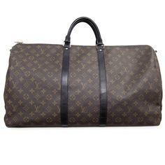 MODASELLE - Louis Vuitton Monogram Macassar Keepall 55 Bandouliere 98c4c3ab6cb9e