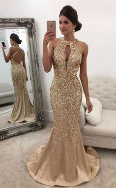 Prom Dress For Teens, Mermaid Halter Sweep Train Criss-Cross Straps Keyhole Champagne Satin Prom Dress with Beading, cheap prom dresses, beautiful dresses for prom. Best prom gowns online to make you the spotlight for special occasions. Gold Prom Dresses, Prom Dresses For Teens, Backless Prom Dresses, Cheap Prom Dresses, Satin Dresses, Homecoming Dresses, Sexy Dresses, Formal Dresses, Party Wear