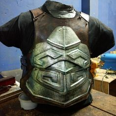 Ancient armor WIP Ancient Armor, Larp Armor, Tactical Clothing, Armors, Fantasy Characters, Study, Superhero, Game, Ideas