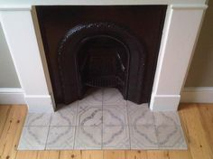 Looking for tile fireplace ideas? Deck your hearth out with beautiful antique tiles salvaged from across Europe courtesy of the Reclaimed Tile Company. Fireplace Hearth Tiles, Fireplace Design, Fireplace Mantels, Images Of Fireplaces, Patchwork Tiles, Bedroom Fireplace, Traditional Fireplace, Antique Tiles, Wood Burner