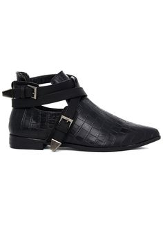 Pointed Cut Out Buckle Boots They remind me of Rumplestiltskin's from Once Upon a Time.