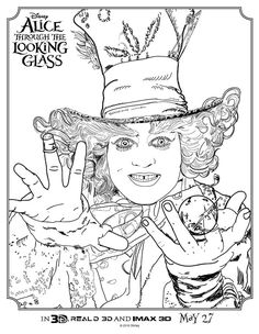 check out these alice through the looking glass coloring pages print these full size coloring pages of alice mad hatter cheshire cat and white rabbit