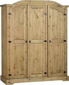 #Wardrobe pine 2 door 3 door 1 #drawer mexican pine bedroom #furniture sets,  View more on the LINK: http://www.zeppy.io/product/gb/2/171278684729/
