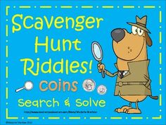 FREE Scavenger Hunt Riddles is designed to get your kiddos up and moving as they practice coin values and combinations (as well as a bit of reading). St...