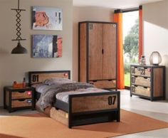 Stunning Vipack Set Alex best aus Nachtkonsole Einzelbett x Bettschublade Kleiderschrank trg und Kommode Kiefer geb rstet Jetzt bestellen unter