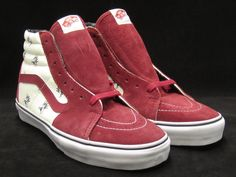 SUPREME VANS FLY SK8-HI PRO BURGUNDY WHITE FLIES PACK 9.5 BOX LOGO  VN-099N5WJ M 429b5100a