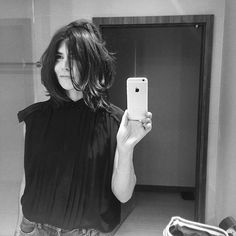 Iconic Małgorzata Szumowska wearing Lee shirt from the newest ss16 Ania Kuczyńska collection