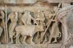 Vézelay Abbey: Central Portal Lintel: Sacrifice