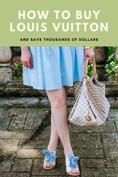 Best kept secrets to buying Louis Vuitton and saving thousands of dollars!! #louisvuitton #louisvuittonbag