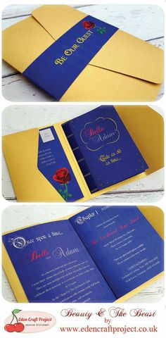 Disney's Beauty and the Beast wedding invitation