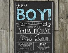 Baby Shower Chalkboard boy or girl Personalized & by PixSew