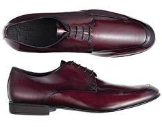 GQ Brasil - Verão 2015 - Nova linha de sapatos ricardo almeida (Foto: Divulgação) - Sapato de amarrar social em couro burgundy #shoe #ricardoalmeida #burgundy