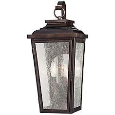 "Irvington Manor 19"" High Bronze Outdoor Wall Light"