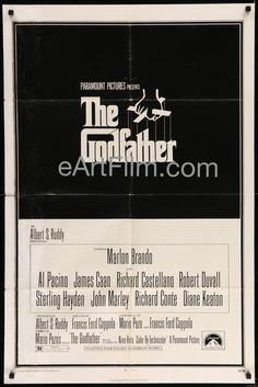 March 14-15 1972 #OTD #TheGodfather premiered in #NYC https://eartfilm.com/search?q=godfather #FrancisFordCoppola #MarioPuzo #GordonWillis #NinoRota #MarlonBrando #AlPacino #DianeKeaton #RobertDuvall #JamesCaan #AbeVigoda #movie #movies #poster #posters #film #cinema #movieposter #movieposters     Godfather-1972-27x41-Francis Ford Coppola-Marlon Brando-Al Pacino-Diane Keaton