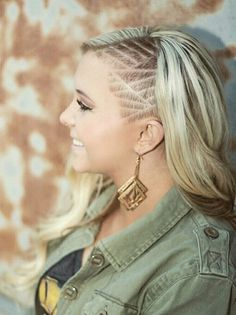 Blond Sidecut, Hair Tattoo
