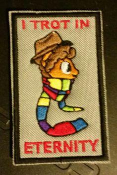 4th Dr Trots in Eternity sew on patch by HeroGearDotORG on Etsy