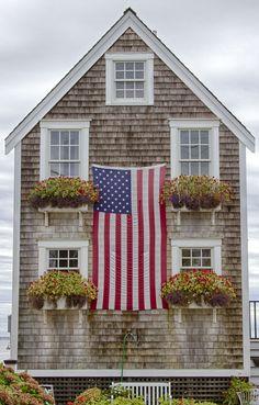 Blue Cape Cod House