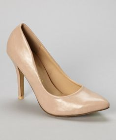 Loving this Nude Selina Pump on #zulily! #zulilyfinds
