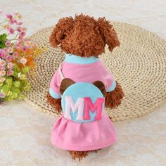 [Visit to Buy] 2017 Dog Cat Tutu Dress Skirt Pet Puppy Blue Pink Dog Princess Costume Apparel Clothes ropa perros chaleco invierno EY11 #Advertisement