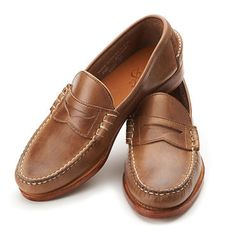 4f3a00a660c Rancourt   Company   Beefroll Penny Loafer in Natural Chromexcel   Made in  USA Best Loafers