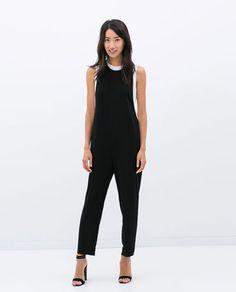 RACERBACK JUMPSUIT Zara Jumpsuit, Jumpsuit Dress, Black Jumpsuit, Moda Zara, Vestidos Zara, Zara Fashion, Overall, Work Wardrobe, Zara Dresses