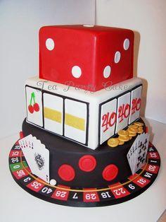 40th Birthday Casino Cake - by Tea Party Cakes @ CakesDecor.com - cake decorating website