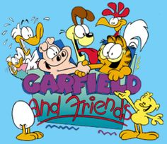 Garfield and friends |Pinned from PinTo for iPad|