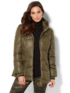 Shop Hooded Puffer Jacket. Find your perfect size online at the best price at New York & Company.
