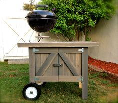 The Chuckernut BBQ Grill Cart .  Reclaimed by missionbeachwoodwork, $350.00