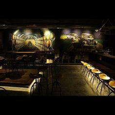 """#themoonshineproject #HoozincProject #HoozincGraffiti #Hoozinc #wallart #graffiti #streetart #quirkyartwork #freehand #mafia #alcohol #godown #weloveart #farfromordinary #themedbar #indianthemedbar #hyderabad #whatwedo"" Photo taken by @hoozinc on Instagram, pinned via the InstaPin iOS App! http://www.instapinapp.com (01/28/2016)"