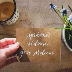 Je tu jaro  plné slunce a barev. Ale to nejhezčí zůstává stejně očím skryto. . . . #pismenazatisiceslov #malyprinc #jaro #krasopsani #handlettering #spring #littleprince Spring, Tableware, Instagram, Dinnerware, Dishes, Serveware