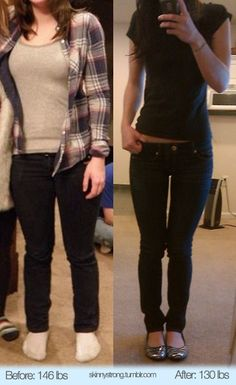146 to 130. what a cute little body!