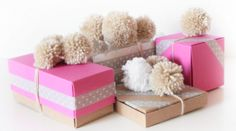 Washi Tape Gift wrapping / Envolturas packaging + pom pom