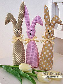 Rabbit Crafts, Bunny Crafts, Easter Crafts, Diy Craft Projects, Diy And Crafts, Sewing Projects, Hoppy Easter, Easter Bunny, Handmade Gifts For Boyfriend
