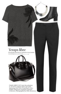"""""""Belle in black"""" by galina-gavrailova ❤ liked on Polyvore featuring CO, Gianvito Rossi, RED Valentino, Givenchy and Kershaw"""