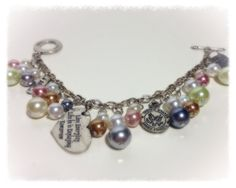 Army Wife Charm Bracelet by PearlsForDogTags on Etsy, $22.75