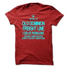 #Statestshirt... Nice T-shirts  Worth :$29.00Purchase Now    Low cost Codes   View photographs & pictures of I Work At Old Dominion Freight Line - I Solve Problems t-shirts & hoodies:Should you don't completely love our design, you possibly can SEARCH your favo....