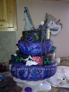 Coolest Nightmare Before Christmas Wedding Cake