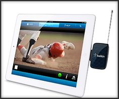 Turn your iPad/iPhone into a mobile TV with the Belkin Dyle Mobile TV Tuner, without needing an Internet connection!