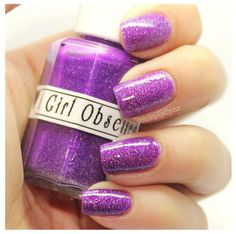 prehistoric purple mini polish by a girl obsessed