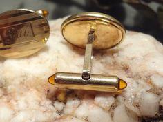 Gold Tone Vintage Cufflinks Inscribed Pat by EstateVintTreasures, $20.00